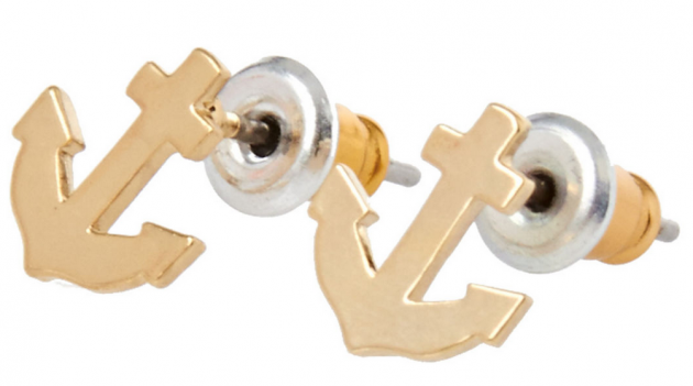 Orelia Anchor Stud Earrings