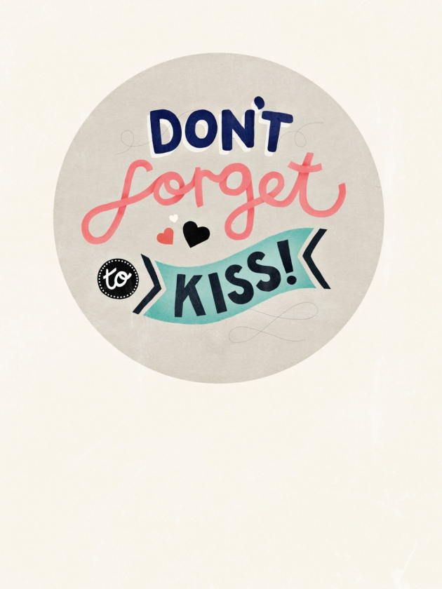Don't Forget To Kiss – poster