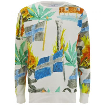 SOULLAND MEN'S SVEA ALL OVER PRINT SWEATSHIRT