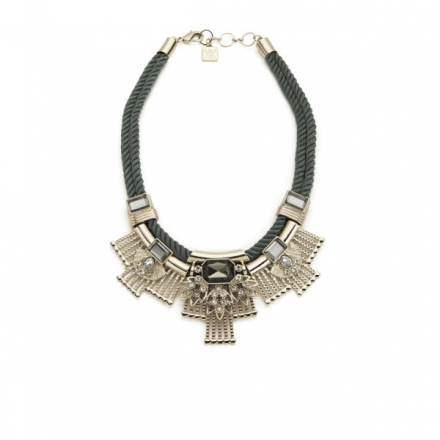 KARDASHIAN KOLLECTION BRAIDED CORD COLLAR NECKLACE