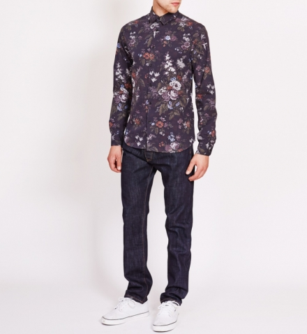DARK FLORAL PRINT FRIDAY SHIRT