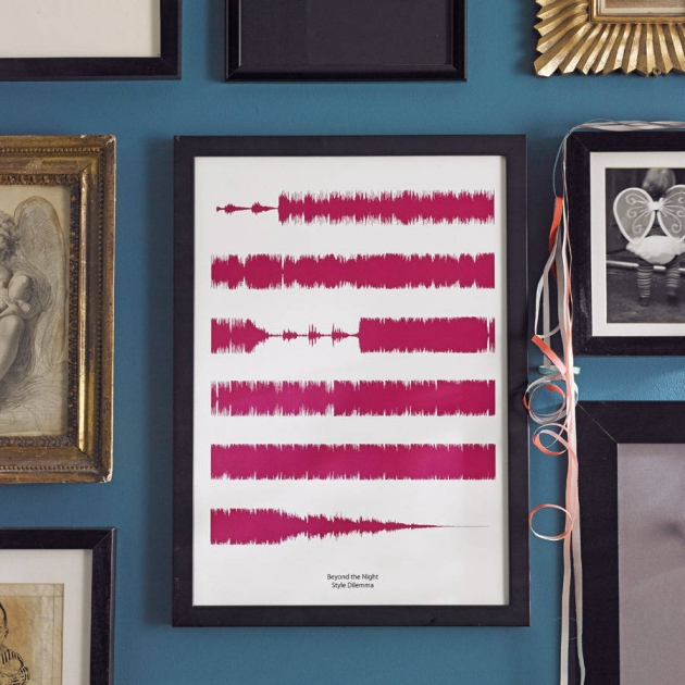Personalised Favourite Song Soundwaves Print