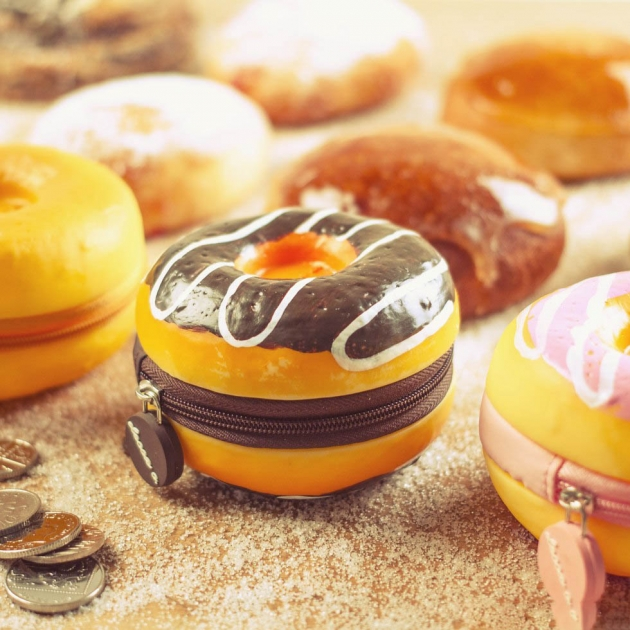 SCENTED DOUGHNUT COIN PURSES
