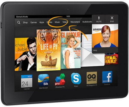 Amazon's Kindle Fire HDX 7