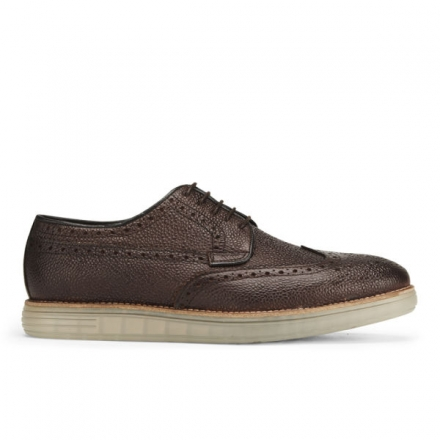 H BY HUDSON MEN'S HARVEY GRAIN LEATHER CLEAR SOLE BROGUES