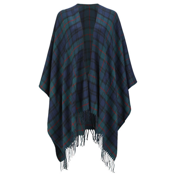 ONLY WOMEN'S CATHRINE CHECK PONCHO