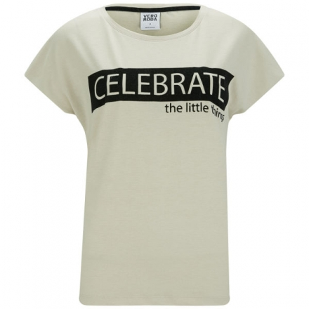 VERO MODA WOMEN'S ALLISON SLOGAN T-SHIRT