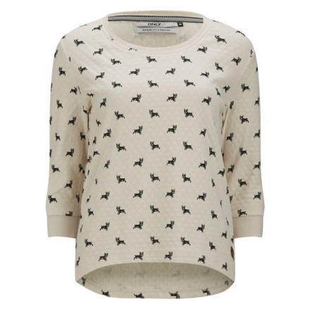 ONLY WOMEN'S CAMERON DOG PRINT SWEATSHIRT