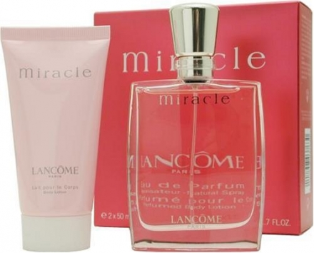 Lancome Miracle Eau de Parfum 50 ml/ Body Lotion Gift Set for Her 50 ml
