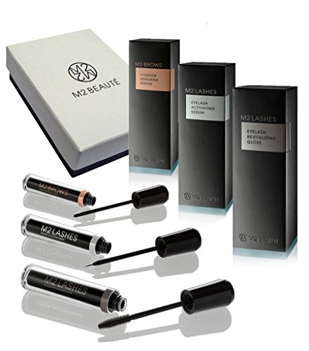 M2BEAUTE FULL SET – Eyelash & Eyebrows Growth Set & M2Beaute Gift Box