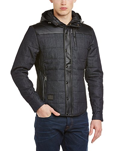 Voi Jeans Men's Glance PU Long Sleeve Jacket