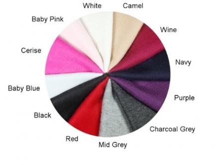 Pure Cashmere Plain 2ply Scarf