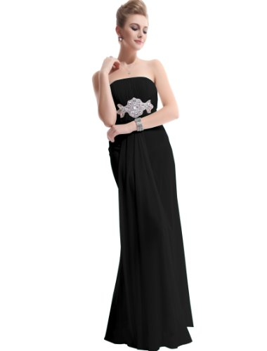 Ever Pretty Padded Empire Chiffon Long Party Evening Bridesmaid Dress 09652