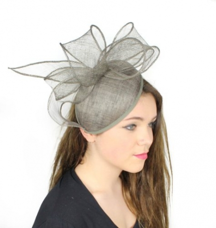 Gin and Tonic Bow Sinamay Ascot Fascinator Hat – With Headband – Available in 5 colours