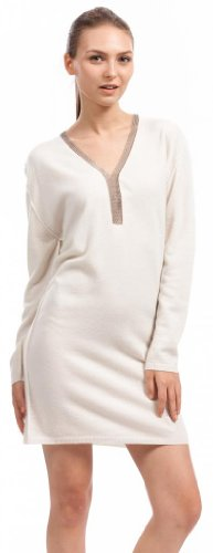 Women's Jumper Dress – 100% Cashmere – by Citizen Cashmere (White)