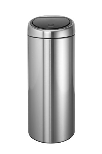 Brabantia 30 L Touch Bin – Matt Steel Fingerprint Proof