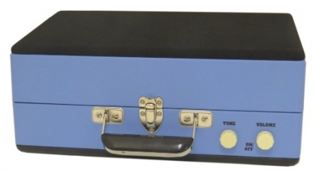 Steepletone SRP025 2 Speed Record Player with Detachable Speaker – Blue