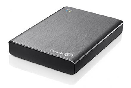 Seagate STCK1000200 1TB Wireless Plus 2.5 Inch External Hard Drive – Grey