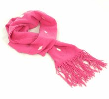 Pure Cashmere argyle knitted scarf