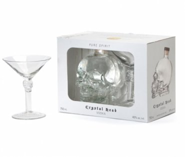 Crystal Head Vodka Martini Glass Gift Set