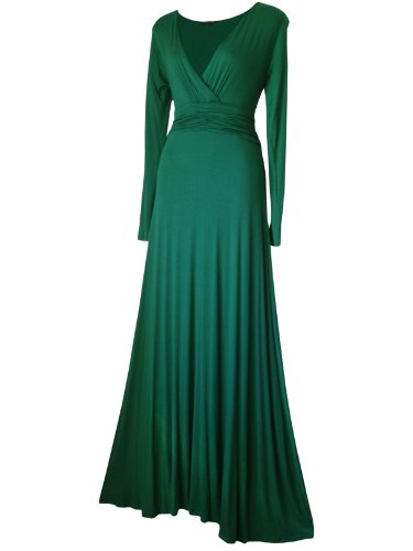 LONG SLEEVED LONG FULL LENGTH EVENING FORMAL MAXI PARTY DRESS SIZES 8 – 22 BLACK,BURGUNDY,RED,PURPLE