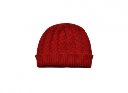 Ladies Pure Cashmere Cable Hat