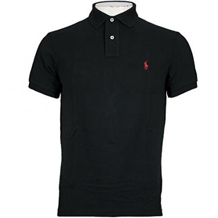 Ralph Lauren Polo Shirt Men's Classic Fit Solid Mesh