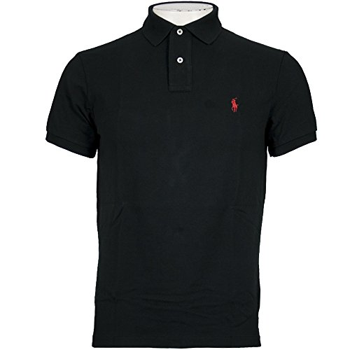 Ralph Lauren Polo Shirt Men's Classic Fit Solid Mesh