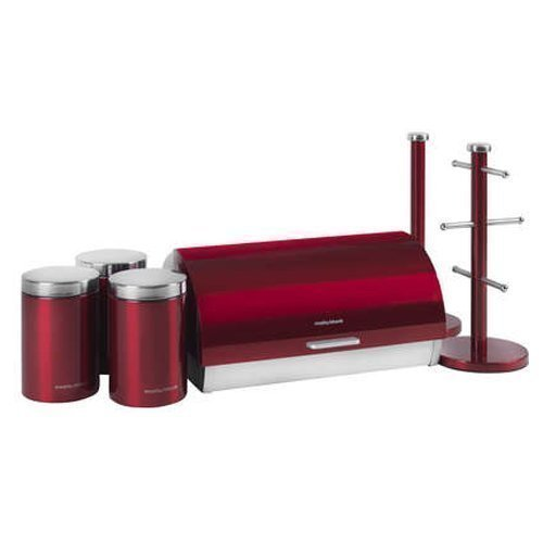 Morphy Richards 6-Piece Accents Storage Set, Red