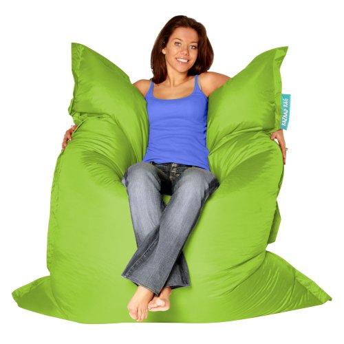 BAZAAR BAG ® – Giant Beanbag LIME GREEN – Indoor & Outdoor Bean Bag – MASSIVE 180x140cm – GREAT for