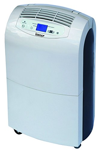 Igenix Portable Dehumidifier with LCD Display, 20 Litre, 340 Watt, White