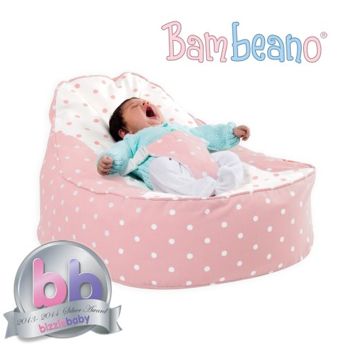 Bambeano® Baby Bean Bag Support Chair – Pink – With FREE 'My 1st Bean Bag' Cover