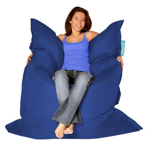 BAZAAR BAG ® – Giant Beanbag BLUE – Indoor & Outdoor Bean Bag – MASSIVE 180x140cm – GREAT for Garde