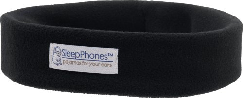 SleepPhones® Wireless Ultra-Comfortable Bluetooth Headband Headphones – Black (Medium)