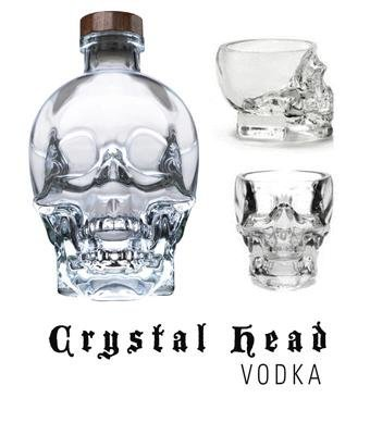 Crystal Head Vodka & 2 Skull Shot Glasses