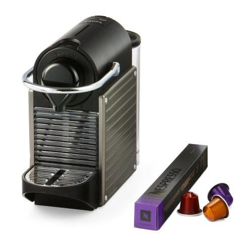 Nespresso by Krups XN300540 Pixie Coffee Machine – Titanium