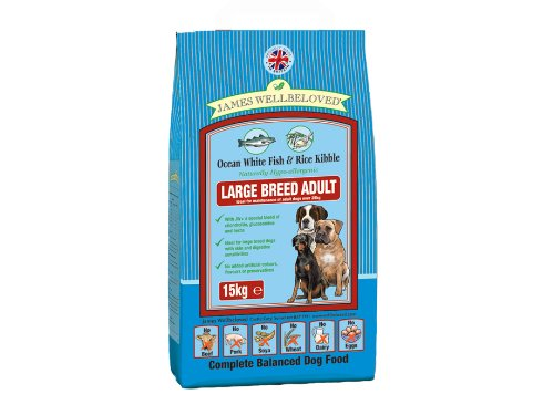 James Wellbeloved Adult Large Breed Ocean White Fish & Rice Kibble