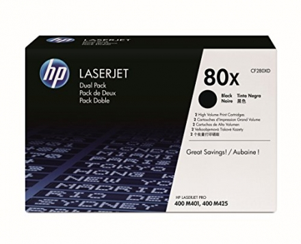 HP CF280XD 80x Laserjet Toner Cartridge – Black (Pack of 2)