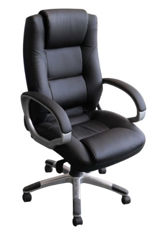 Charles Jacobs Luxury Executive Back Support Office Business Chair in Black +Tilt Lock Mechanism