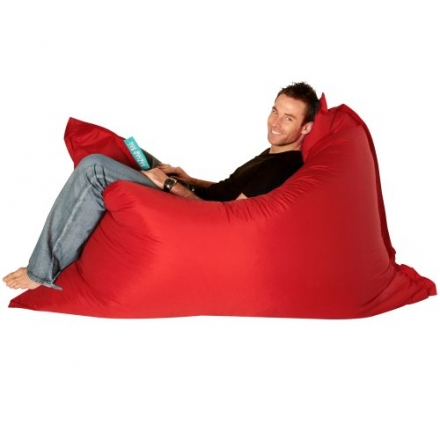 BAZAAR BAG ® – Giant Beanbag RED – Indoor & Outdoor Bean Bag – MASSIVE 180x140cm – GREAT for Garden