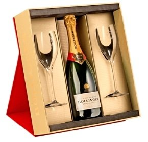Bollinger Special Cuvee 75cl Black Gift Box With 2 Bollinger Champagne Flutes
