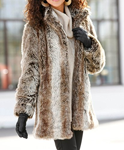 NEW LADIES WOMANS LUXURY FAUX FUR WINTER COAT PLUS SIZE 14 TO 28 UK