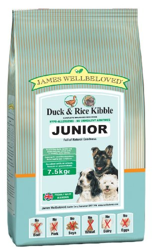 James Wellbeloved Junior Duck & Rice Kibble