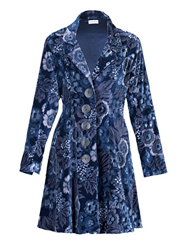 Sumptuous Velvet Coat with Floral Detailing