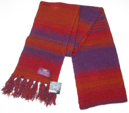 Doctor Who Scarf – Official BBC Doctor Who Season 18 Chenille Scarf – 4th Doctor Burgundy 12 feet lo