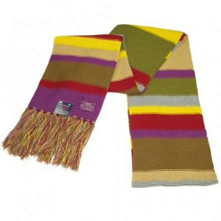 Doctor Who Scarf – Official BBC Doctor Who Scarf – Fourth Doctor Scarf Full Size by Lovarzi