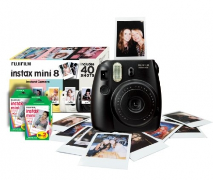 Fujifilm Instax Mini 8 Instant Camera Gift Bundle with 40 Shots – Black