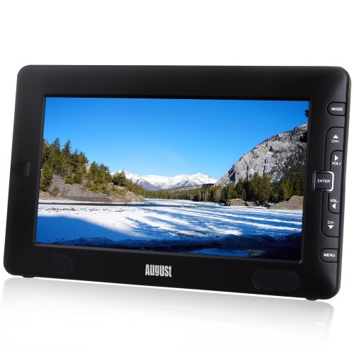 August DTV905 – 9″ Portable Freeview TV – Small Screen LCD Television with Multimedia Player – Digit