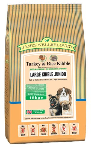 James Wellbeloved Junior Large Breed Turkey & Rice Kibble