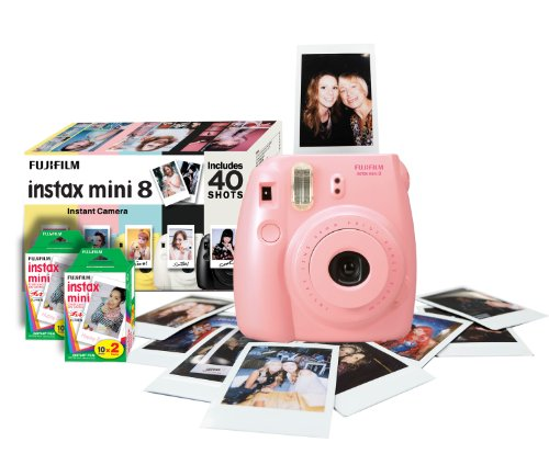 Fujifilm Instax Mini 8 Instant Camera Gift Bundle with 40 Shots – Pink